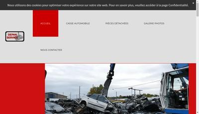 Site internet de Auto Piece Depan Service
