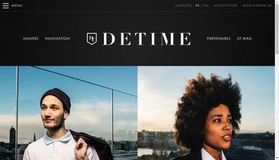 Site internet de Detime Luxury