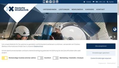 Site internet de Deutsche Windtechnik