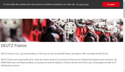 Site internet de Deutz France SAS