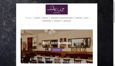 Site internet de Deuz Restaurant