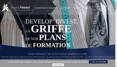 Site internet de Develop'Invest