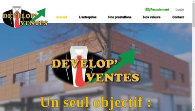 Site internet de Develop'Ventes