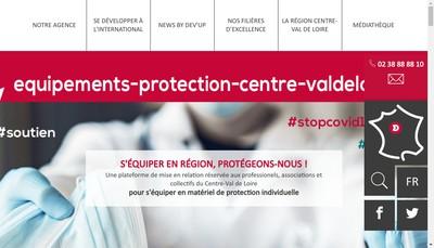 Site internet de Dev'Up Centre-Val de Loire