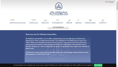 Site internet de De Widehem Automobiles