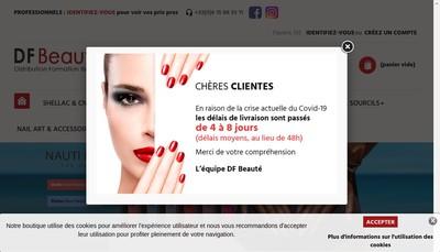 Site internet de DF Beaute