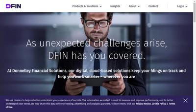 Site internet de Donnelley Financial Solutions France SARL