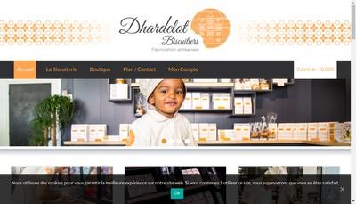 Site internet de Dhardelot Biscuitiers