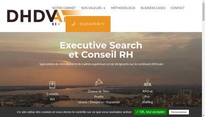 Site internet de Dhdv Africa