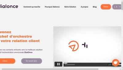 Site internet de Dial Once France