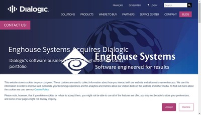 Site internet de Dialogic SARL