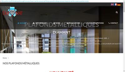 Site internet de Europeenne Profilage Diamant Industrie
