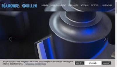 Site internet de Guillen Outils Coupants