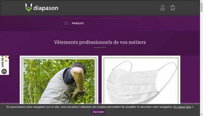 Site internet de Diapason