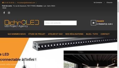 Site internet de Dichroled