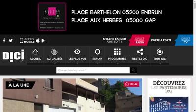 Site internet de Dici Tv