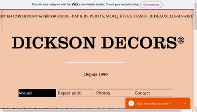 Site internet de Dickson Decors