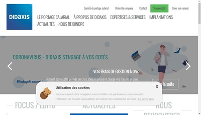 Site internet de Diaxis Formation