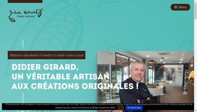 Site internet de Didier Girard Artisan Chocolatier
