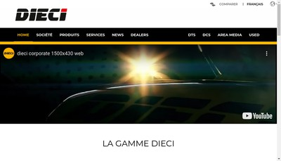 Site internet de Dieci France