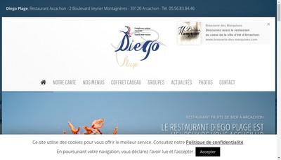 Site internet de Diego Plage l'Ecailler