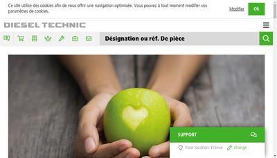 Site internet de Diesel Technic France