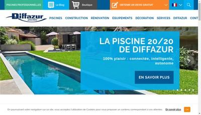 Site internet de Diffazur Piscines