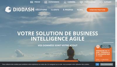 Site internet de Digdash