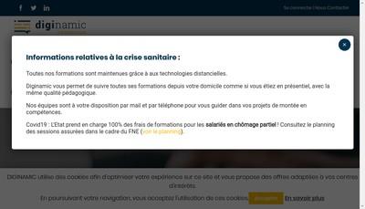 Site internet de Diginamic