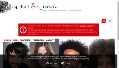 Site internet de Digital Artists