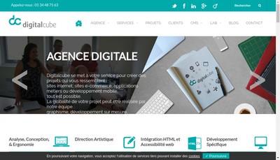 Site internet de Digitalcube