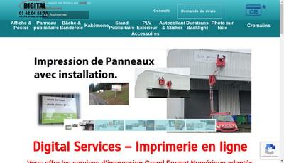Site internet de Digital Services