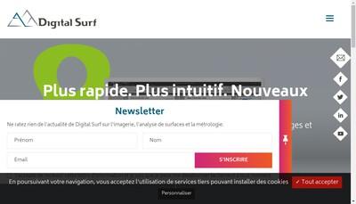 Site internet de Digital Surf
