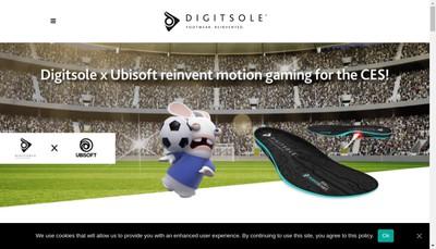 Site internet de Digitsole