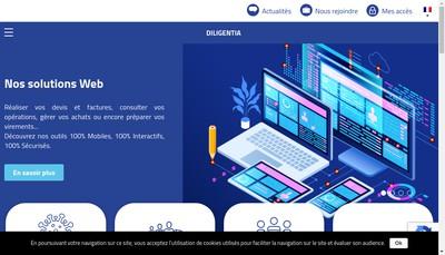 Site internet de Diligentia - Dillies & Associes Societe d'Expertise Comptable