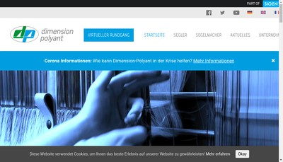 Site internet de Dimension Polyant