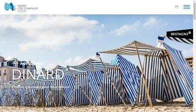 Site internet de Dinard Cote d'Emeraude Tourisme