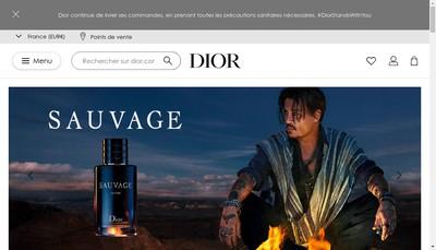 Site internet de Christian Dior