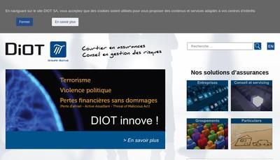 Site internet de Diot SA