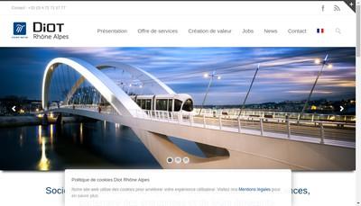 Site internet de Diot Rhone-Alpes