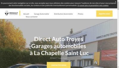 Site internet de Direct Auto Troyes