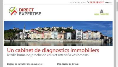 Site internet de Direct Expertise