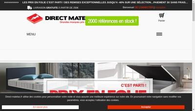 Site internet de Direct Matelas