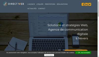 Site internet de Direct @ Web