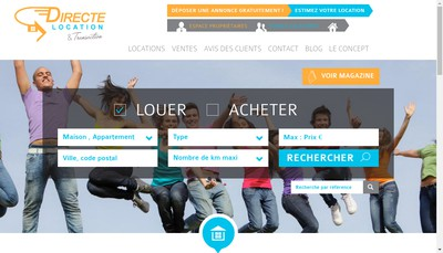 Site internet de Directe Location