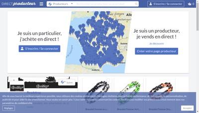 Site internet de Direct Producteur
