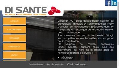 Site internet de SAS Di Sante