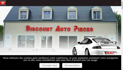 Site internet de Discount Auto Pieces