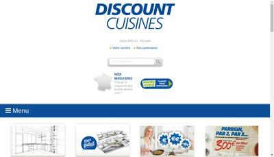 Site internet de SARL Discount Cuisines