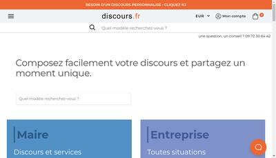 Site internet de Discours Fr